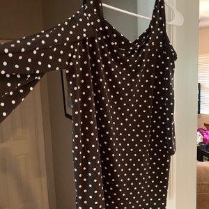 Brown Polka Dot Shirt